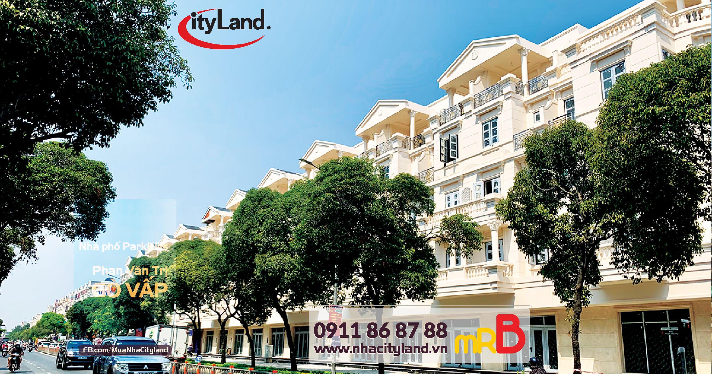 Bán nhà phố Cityland mặt tiền Phan Văn Trị dự án Cityland Park Hills
