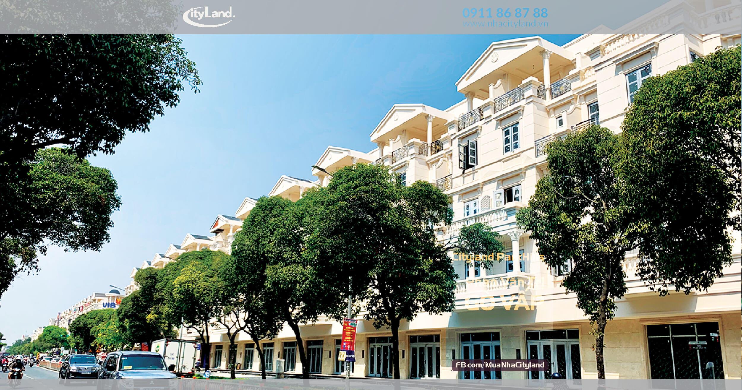 Bán Nhà Mặt tiền Phan Văn Trị Cityland Park Hills L48.10 Nhà phố thương mại