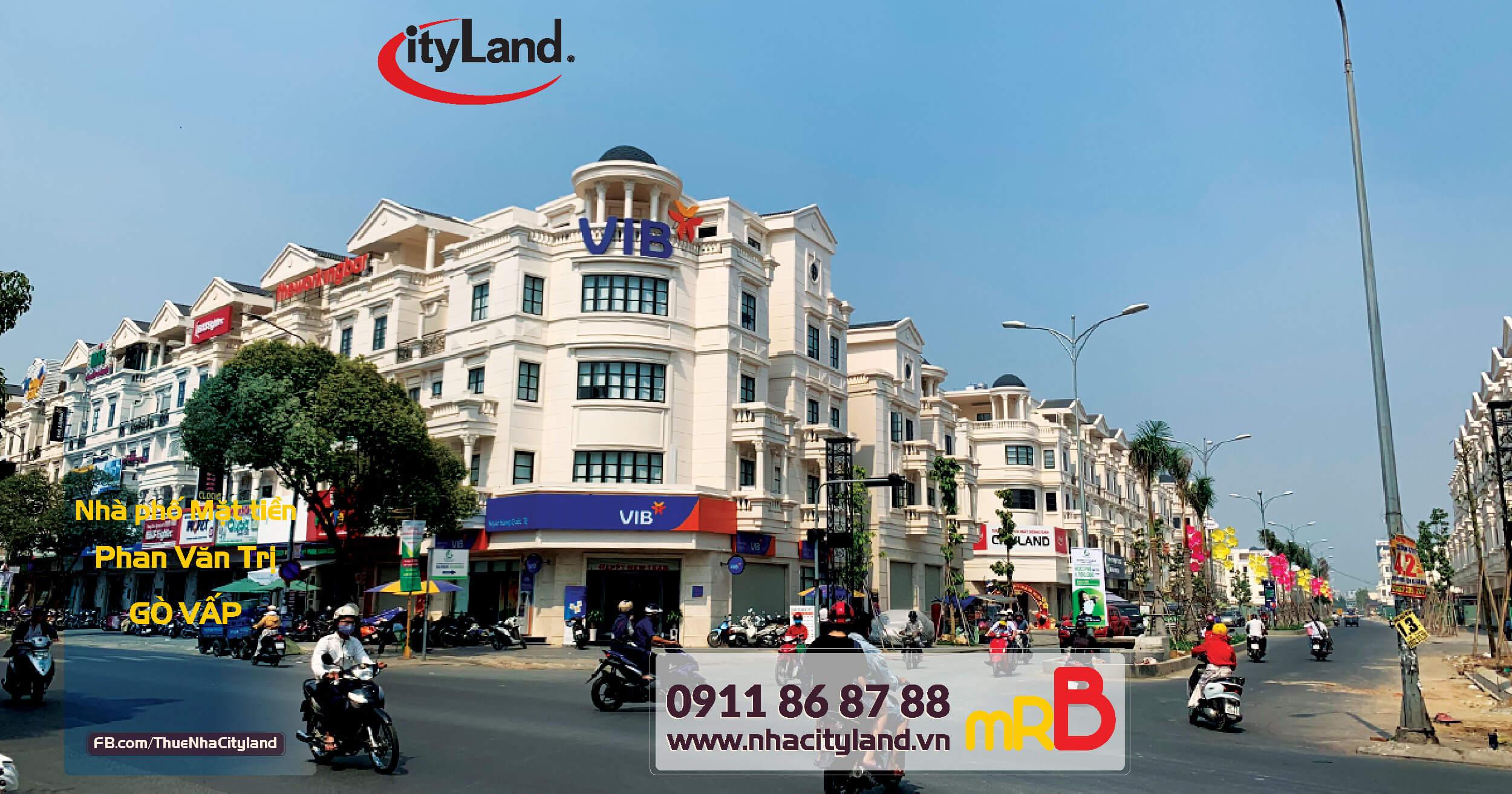 Cho thuê Nhà phố Cityland đối diện VIB Ngân hàng quốc tế tại Park Hills