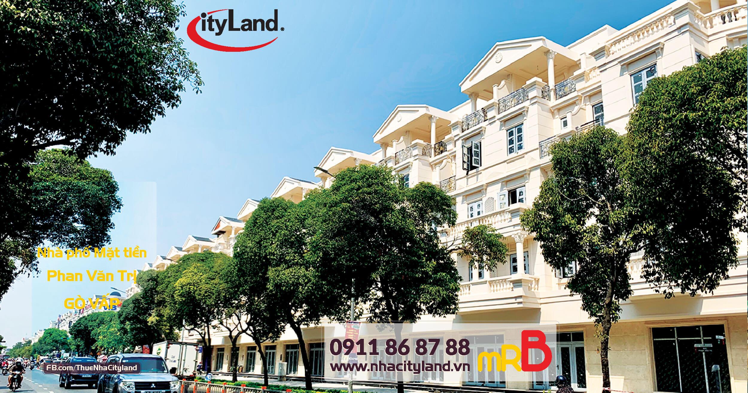 Cho thuê Nhà Cityland Mặt tiền Phan Văn Trị - Park Hills